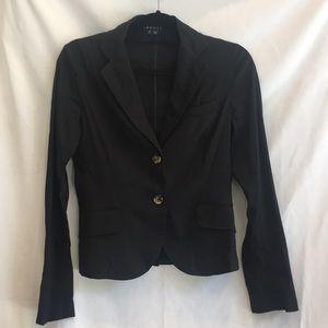Theory black linen blazer size 4